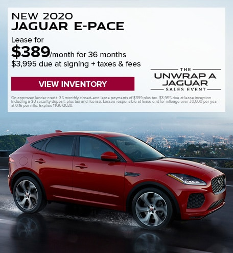 LEASE: 2020 E-PACE SE P250 $389/month for 36 months at $43,700 MSRP*