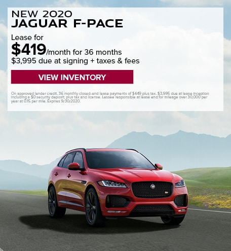 LEASE: 2020 F-PACE 25t Premium for $419/month for 36 months at $47,800 MSRP*