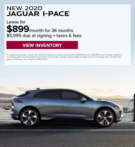 LEASE: 2020 I-PACE HSE for $899 per month for 36 months at $80,900 MSRP