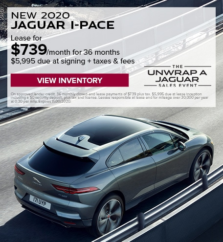 LEASE: 2020 I-PACE S for $739 per month for 36 months at $69,850 MSRP