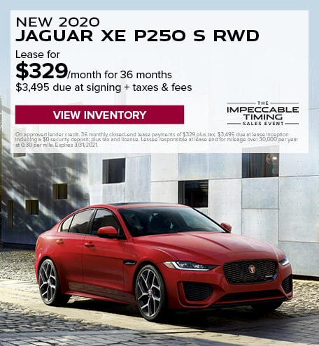 New 2020 Jaguar XE