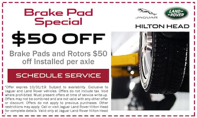 Brake Pads and Rotors $50 off Installed per axle