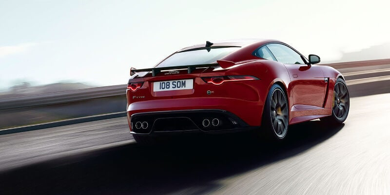 2018 Jaguar F-Type Rear Exterior on Coupe