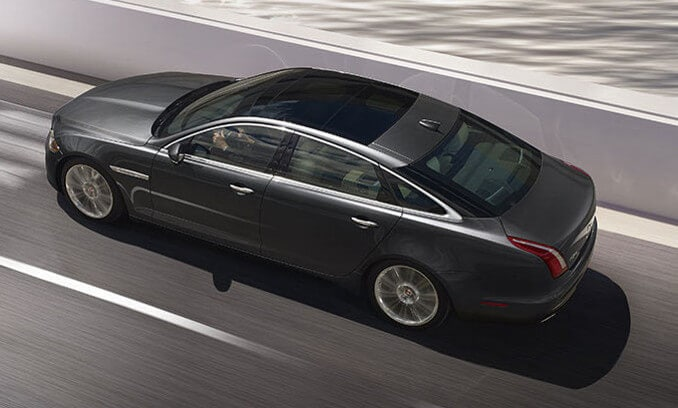 2018 Jaguar XJ exterior from birds eye view