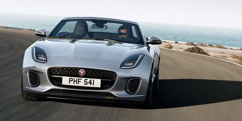 2018 Jaguar F-Type Convertible Front Exterior Shot