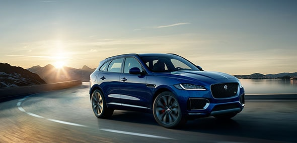 2018 Jaguar F-Pace on road