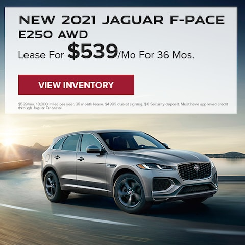 New 2021 Jaguar F-PACE E250 AWD
