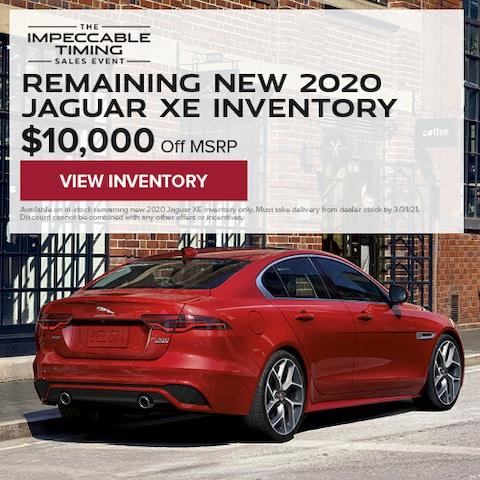 Remaining New 2020 Jaguar XE Inventory
