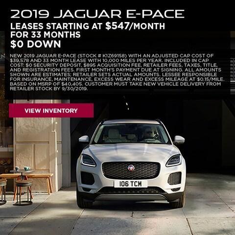 2019 Jaguar E-PACE - Lease