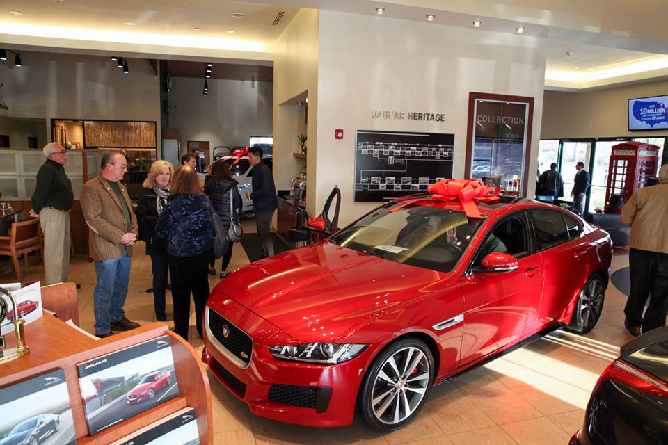 Jaguar XE sedan preview event at Jaguar Huntington, Long Island, New York
