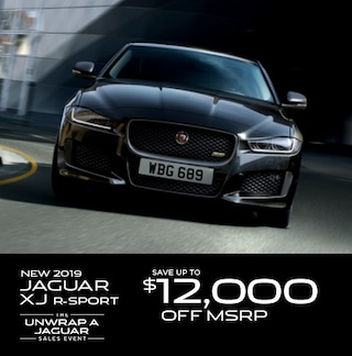 Save up to $12,000 off MSRP on a new 2019 Jaguar XJ R-Sport