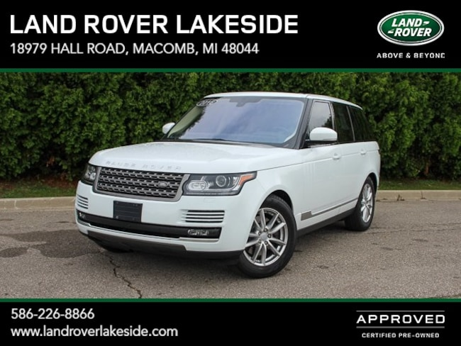 Used 2016 Land Rover Range Rover 3.0L V6 Supercharged SUV Macomb