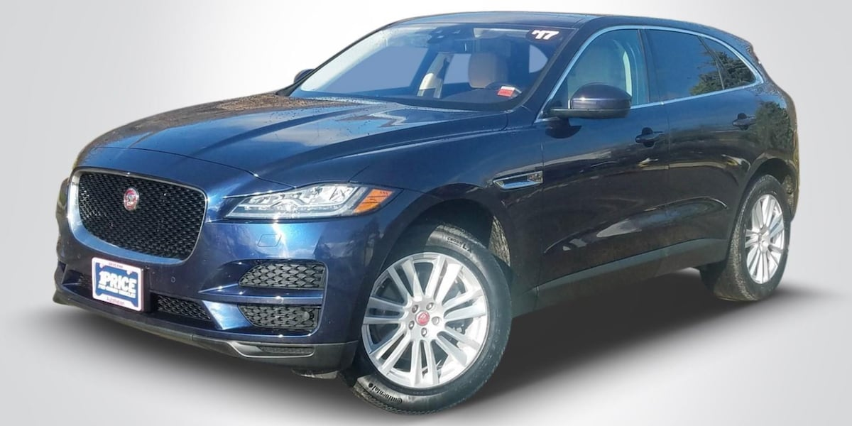 Blue used Jaguar F-PACE SUV