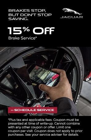 15% off brake service