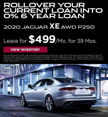 Rollover your current loan into 0% 6 Year Loan 2020 Jaguar XE AWD P250