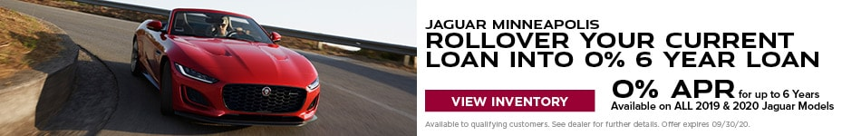 0% APR for up to 6 Years Available on ALL 2019 & 2020 Jaguar Models