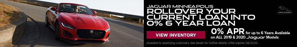 Jaguar Minneapolis Rollover your current loan into 0% 6 Year Loan