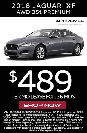 Lease Certified Pre Owned >> Certified Pre Owned Lease Specials Jaguar Morris County