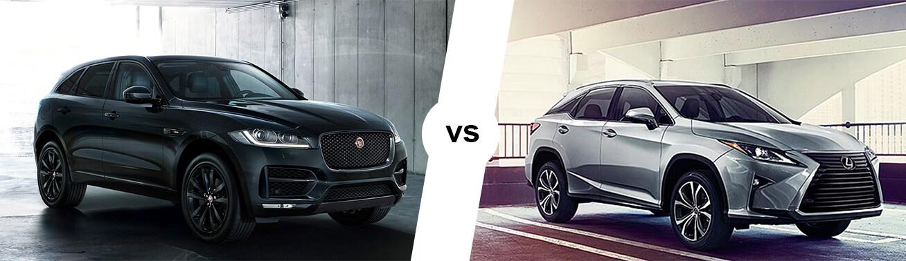 2018 jaguar f-pace vs 2018 lexus rx 350 comparison   hennessy jaguar