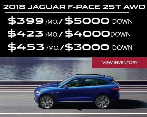 Delightful *2018 Jaguar F PACE 25t Premium AWD 39 Month Lease. $0 Security Deposit.  Excludes Retailer Fees, Taxes, Title And Registration Fees. 10K Miles Per  Year.
