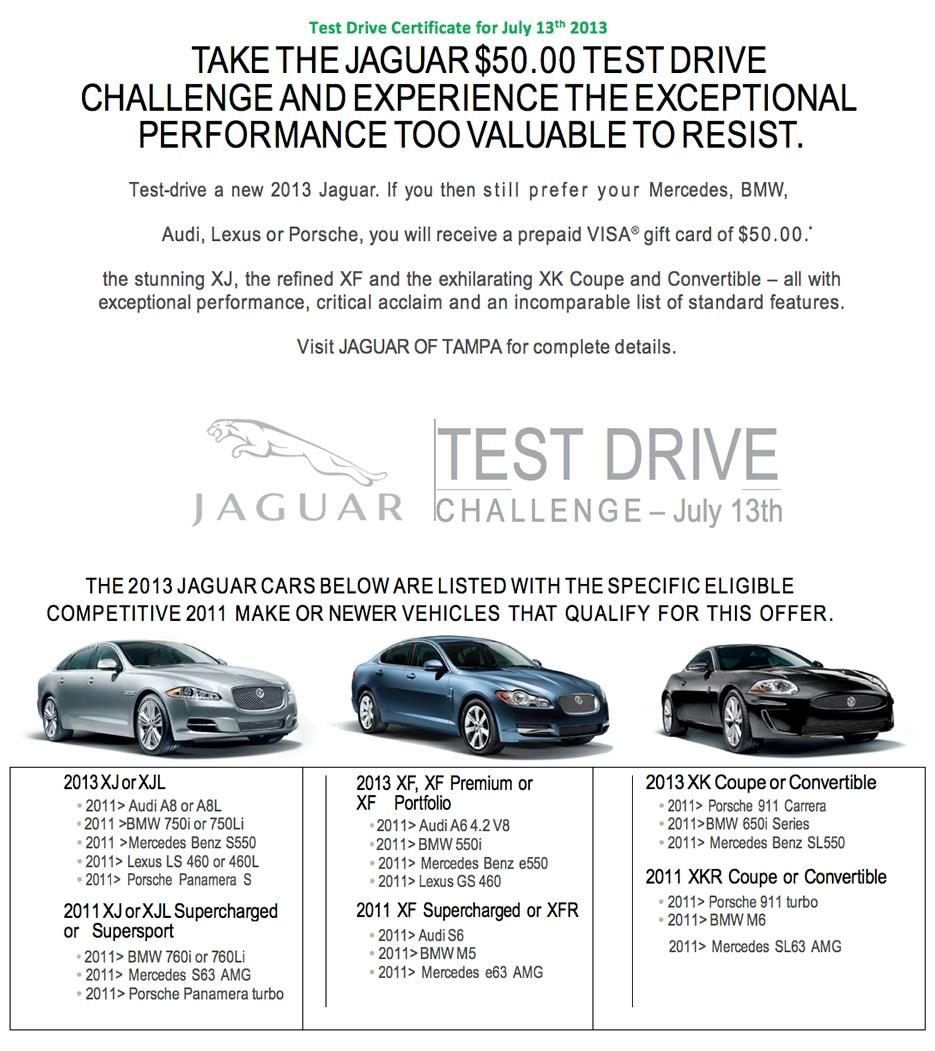 Jaguar Of Tampa New Dealership In Fl 33612 2011 A6 Fog Lights Test Drive Challenge