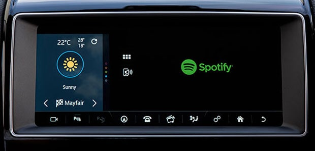 Spotify Dashboard in Jaguar