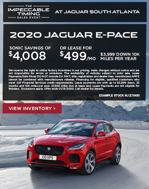 2020 Jaguar E-Pace Purchase & Lease Special