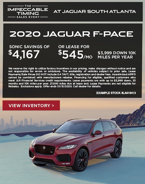 2020 Jaguar F-Pace Purchase & Lease Special