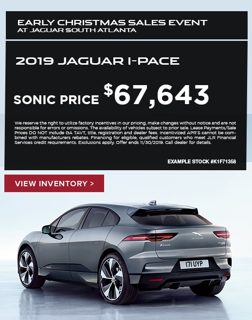 2019 Jaguar I-Pace Purchase Special