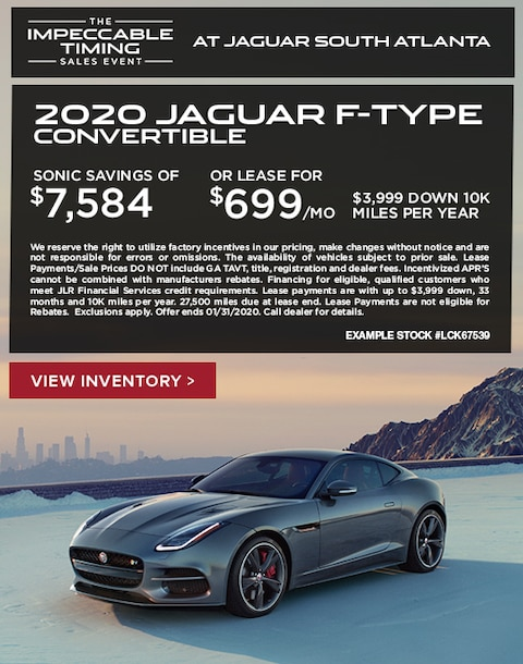 2020 Jaguar F-Type Convertible Purchase & Lease Special