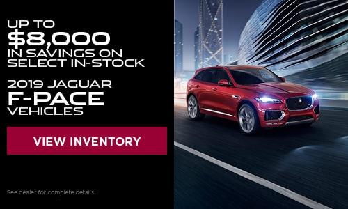 July $8,000 off Jaguar F-Pace Vehicles