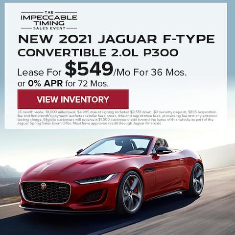 New 2021 Jaguar F-TYPE Convertible 2.0L P300