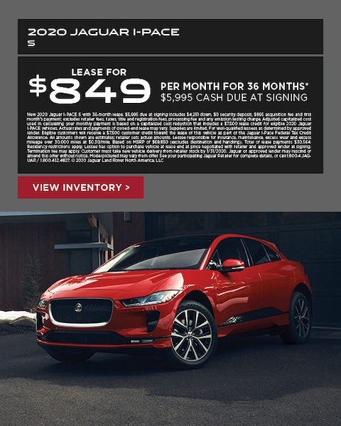 2020 Jaguar I-Pace Lease Special