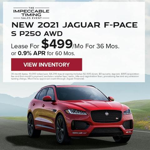 New 2021 Jaguar F-PACE S P250 AWD