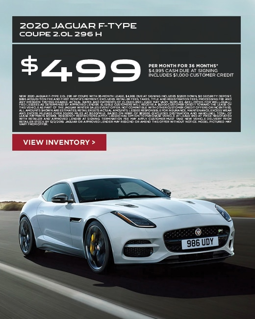 2020 Jaguar F-Type Lease Special