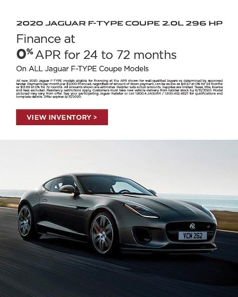 2020 Jaguar F-Type Lease Specials