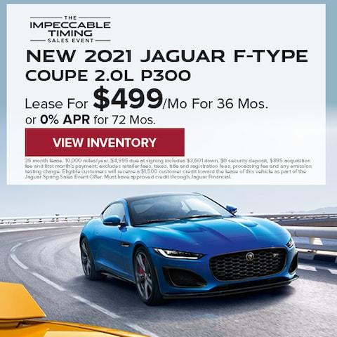 New 2021 Jaguar F-TYPE Coupe 2.0L P300