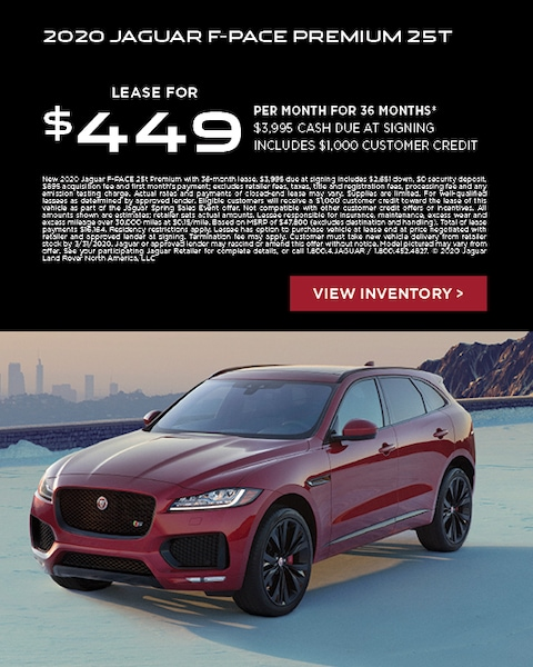 fpace lease offer jaguar