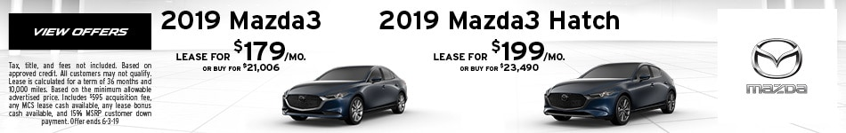 2019 Mazda3 Hatch and Sedan