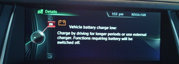 bmw intelligent battery sensor signal transmission