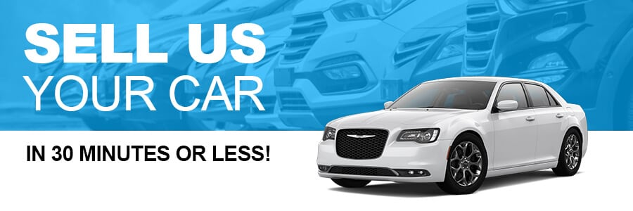 Sell us your car and get a cash payment in 30 minutes or less!