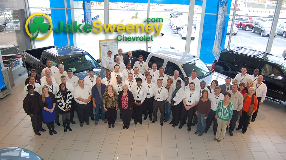 Here At Jake Sweeney Chevrolet ...