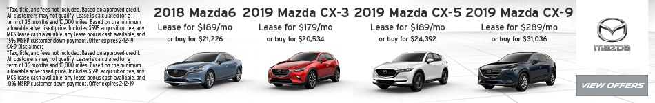 New Mazda Lease Specials