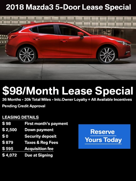 Jake Sweeney Mazda >> Mazda3 Hatch Lease | Jake Sweeney Mazda