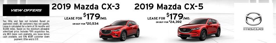 2019 Mazda CX-3 or 2019 Mazda CX-5