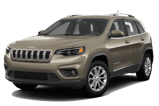 A brown 2019 Jeep Cherokee