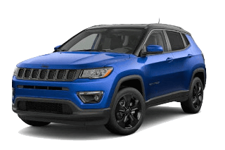 A blue 2019 Jeep Compass