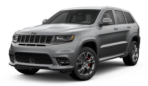 A silver 2019 Jeep Grand Cherokee SRT