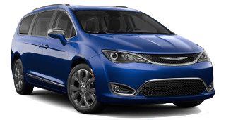A blue 2019 Chrysler Pacifica