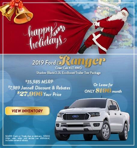 2019 Ford Ranger Crew Cab XLT 4WD